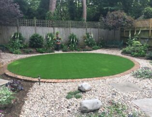 Circular artificial grass