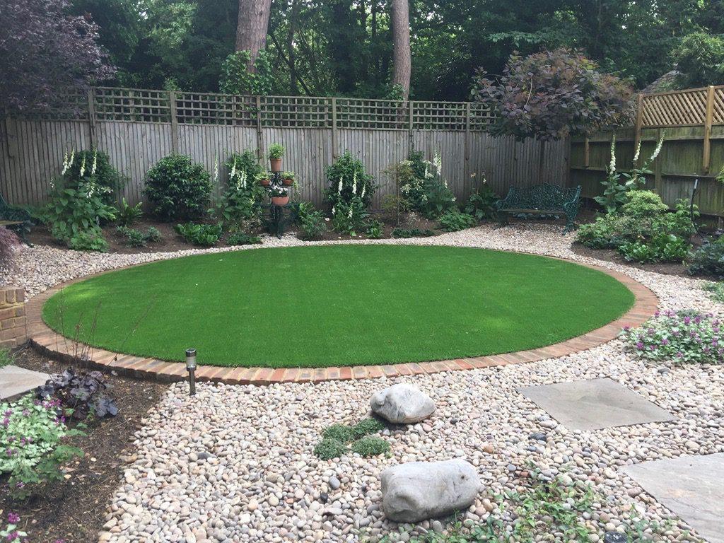 Circular artificial grass
