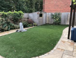 garden crawley patio installation