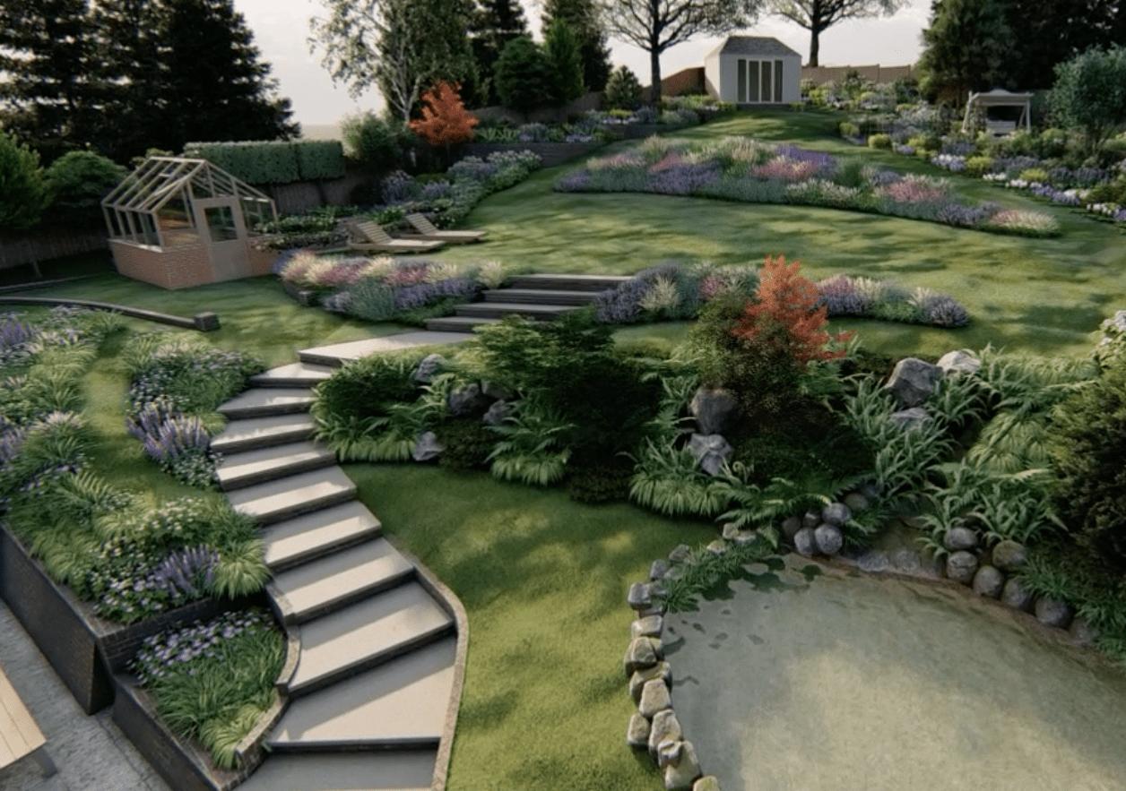 3D Garden design