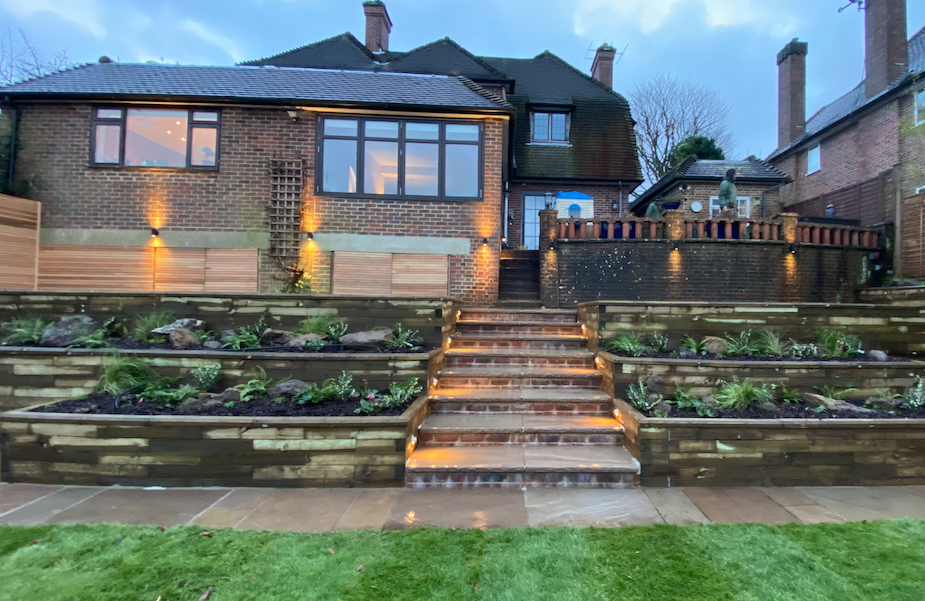 Terraced garden solution