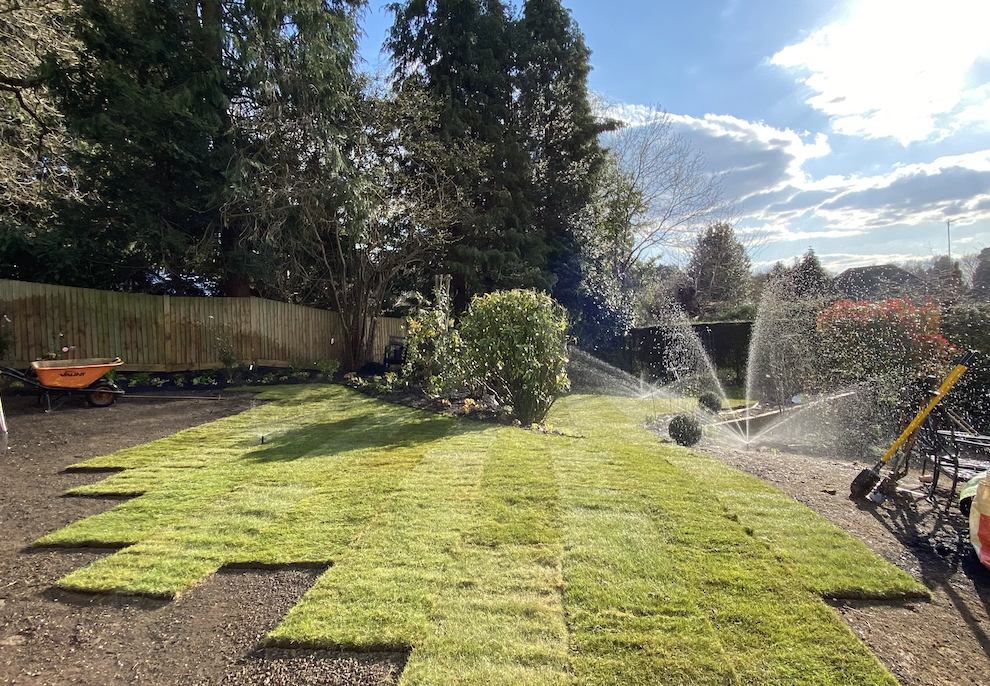 Irrigation in Dorking