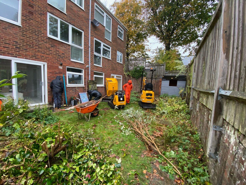 before photo reigate surrey garden